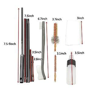 1pc .30Cal Barrel Brush Gun Bore Brush Rifle Cleaner Set Cleaning Kit HunRSD*QE