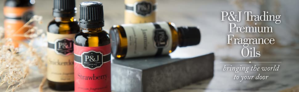 Pamp;J Premium Fragrance Oils Strawberry, Snickerdoodle and Jasmine. We bring you the world.