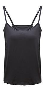 644e5bbd6f7e2 Womens Camisole Built in Shelf Padded Bra · Womens Camisole Built-in Shelf  Padded Bra · Women s Basic Solid Camisole Spaghetti Strap Tank Top ...