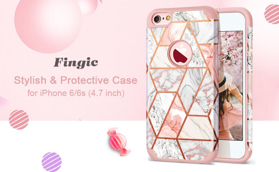 Amazon.com: Carcasa para iPhone 6 y 6S, diseño de mármol ...