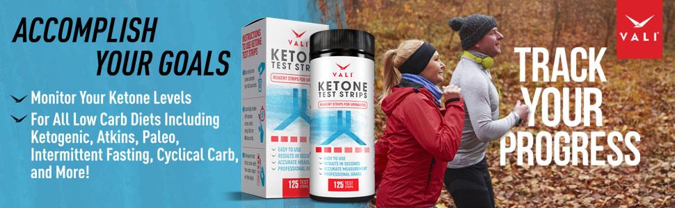Ketone Test Strips Ketones Testing Keto Urinalysis Tester Strips Kit Ketogenic Premium Ketosis Urine