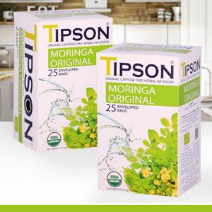 Tipson, tea, moringa, usda certified organic