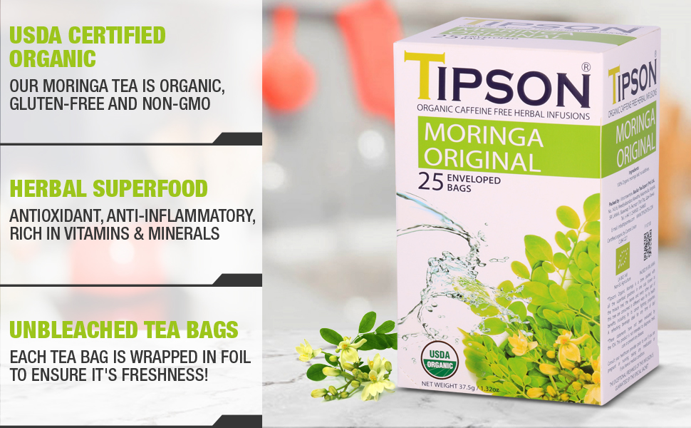 Tipson, moringa,herbal, original, organic