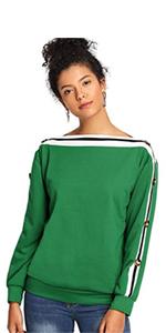 92524c5da136dd off shoulder · off shoulder · one shoulder · one shoulder · ROMWE Women s  Raw Cut Off the Shoulder Long Sleeve Tee ...