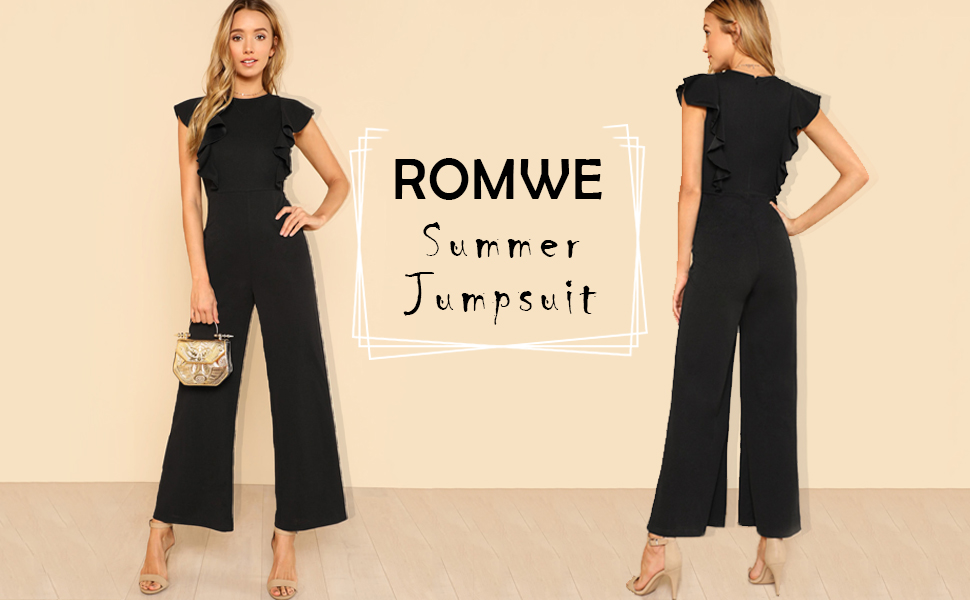 7f0578249f7b Women Elegant Jumpsuit Casual Sleeveless Straight Leg Pants Long Romper.  elegant jumpsuit