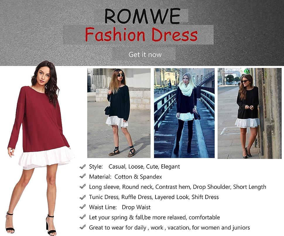 Romwe Womens Ruffle Mesh Sleeve Round Neck Long Elegant Jumpsuit