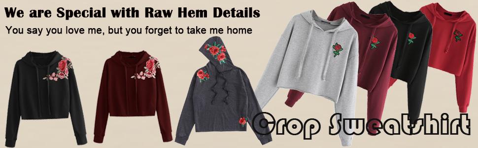 a4ee2e96f7d Romwe Women s Casual Crop Sweatshirt Long Sleeve Pullovr Hoodie Knit ...