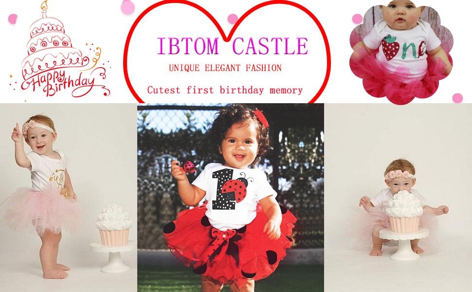 7af7be158cea6 Baby Girls 1st Birthday Cake Smash 3pcs Outfits Set Cotton Romper  Bodysuit+Tutu Dress+Flower Headband Princess Skirt Clothes - FREE Shipping  - Genuine ...