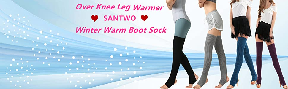 2Pack Unisex Adult Over Knee Thermal Leg Warmer Protector Socks For Dancing Yoga