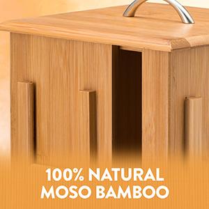 bambusi tea box display showcase show case turning tea box