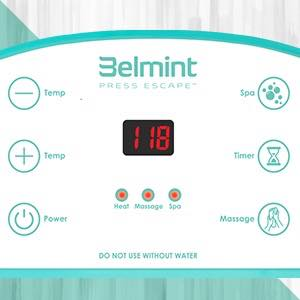 Belmint Foot Spa Bath Massager with Heat - Foot Massager Machine Feet Soaking Tub   Features Vibration, Spa, Roller, Massage Mode   6 Pressure Node ...