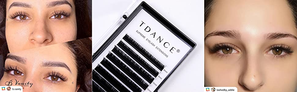 d0b7449a962 Amazon.com : TDANCE Premium D Curl 0.18mm Thickness Semi Permanent ...