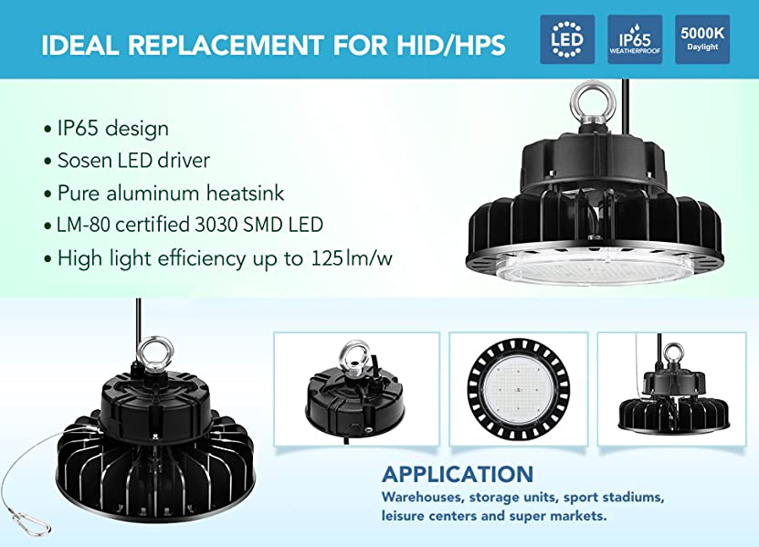 etl certified led high bay ufo light replacement for 600w hid hps rh amazon com