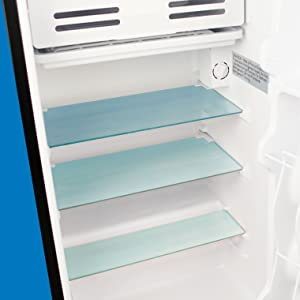 Homelabs mini fridge glass shelves