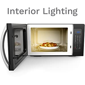 hOmeLabs Microwave with Interior Lighting