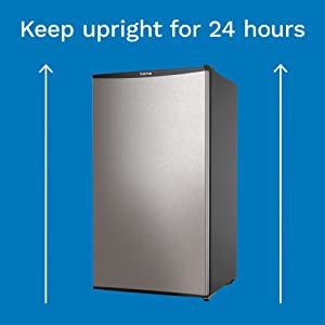 Tip to Keep hOmeLabs Mini Fridge Upright for 24 Hours Before Using