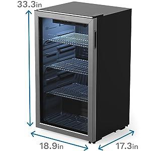 beverage cooler dimensions