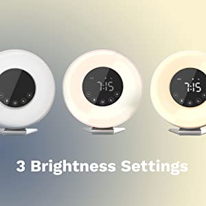 hOmeLabs Sunrise Alarm Clock - Digital LED Clock with 6 Color Switch and FM Radio for Bedrooms - Multiple Nature Sounds Sunset Simulation & Touch ...