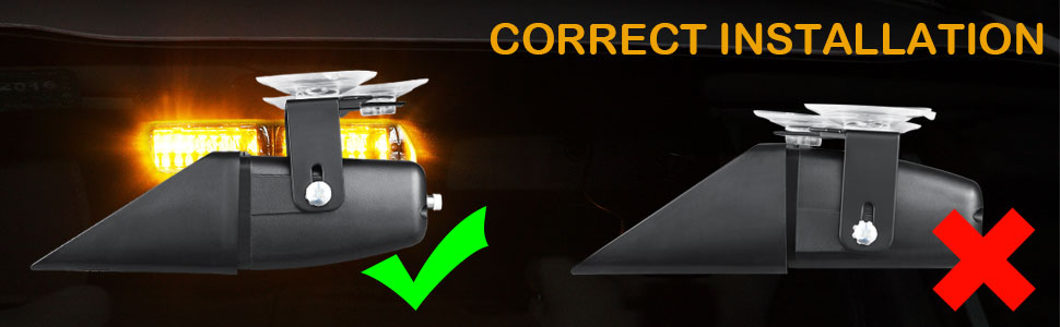 SPV etc. AT-HAIHAN Amber Warning Light 16W LED with 18 Flash Patterns Dash Deck Windshield Mounted for Tow Truck,Utility Vehicle,Constuction Vehicle