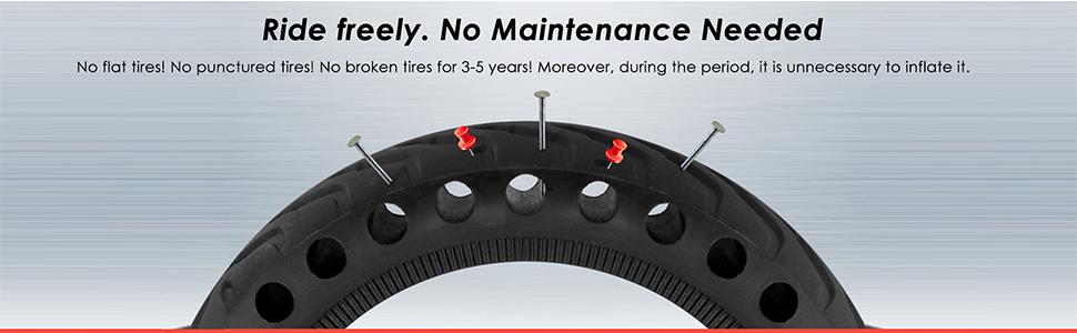 Amazon.com: WiLEES - Neumático de repuesto sólido Mijia ...