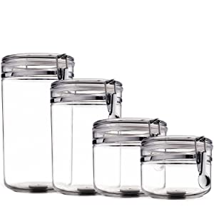Amazon.com: Food Storage containers canister set - Set of