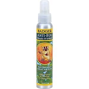 Amazon Com Badger Anti Bug Spray 100 Natural And Certified Organic 4 Oz Aluminum Bottle
