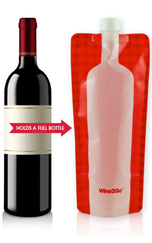 wine2go the foldable wine bottle kitchen dining. Black Bedroom Furniture Sets. Home Design Ideas