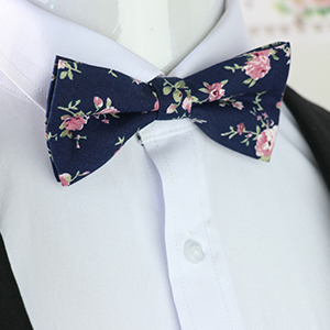 95c736842442 Mantieqingway Men's Cotton Floral Bow Tie 065 at Amazon Men's ...