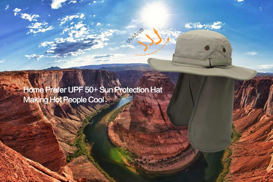 Home Prefer Unisex Quick Drying UV Protection Outdoor Sun Hat with Flap  Neck Cover cc4a7047d501