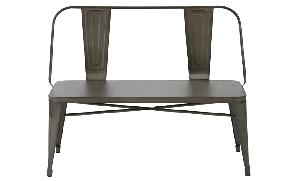 Incredible Btexpert Industrial Dining Chair Steel Frame Bench Bronze Metal 5061Cc Forskolin Free Trial Chair Design Images Forskolin Free Trialorg
