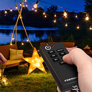 wireless remote control outlet countdown timer photocell 2 port socket plug sensor dual outdoor