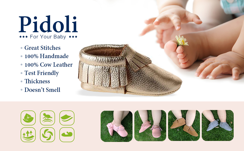 Pidoli Baby Shoes Moccasins Leather