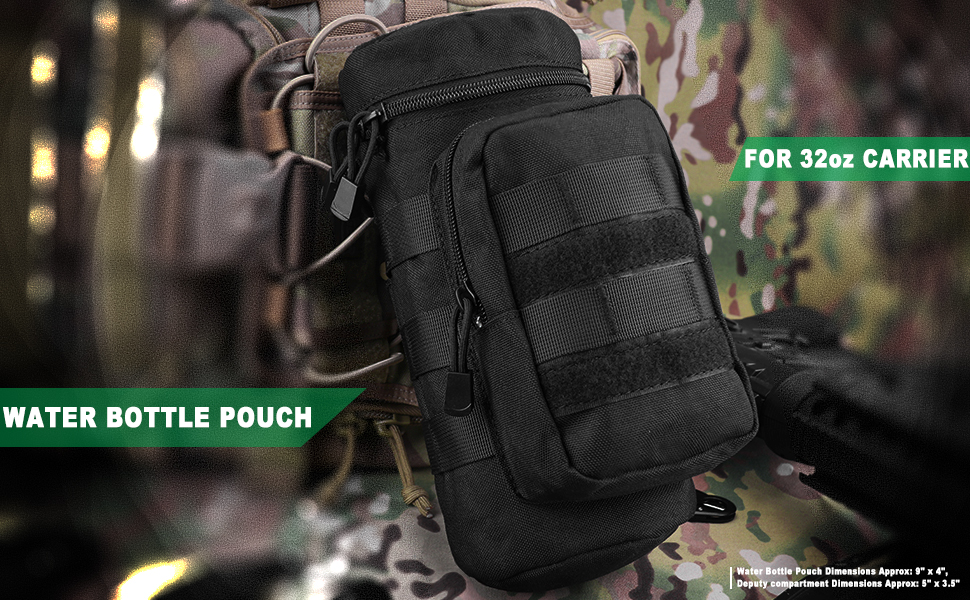 Tactical MOLLE Water Bottle Pouch Holder Storage Bag For 32Oz Carrier