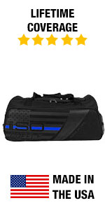Amazon.com  Isolator Fitness Thin Blue Line ISODUFFLE Gym Bag Meal ... 071421f35c