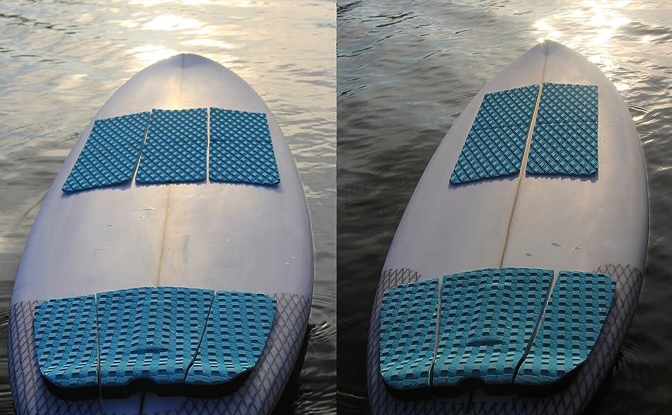 4x Anti-Rutsch-Grau EVA SUP Surfboard Longboard Hund Traction Deck Grip Tail