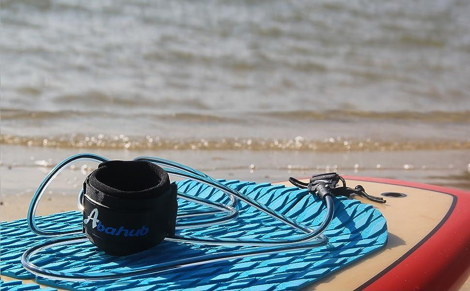 Abahub Surfing Leash on the beach