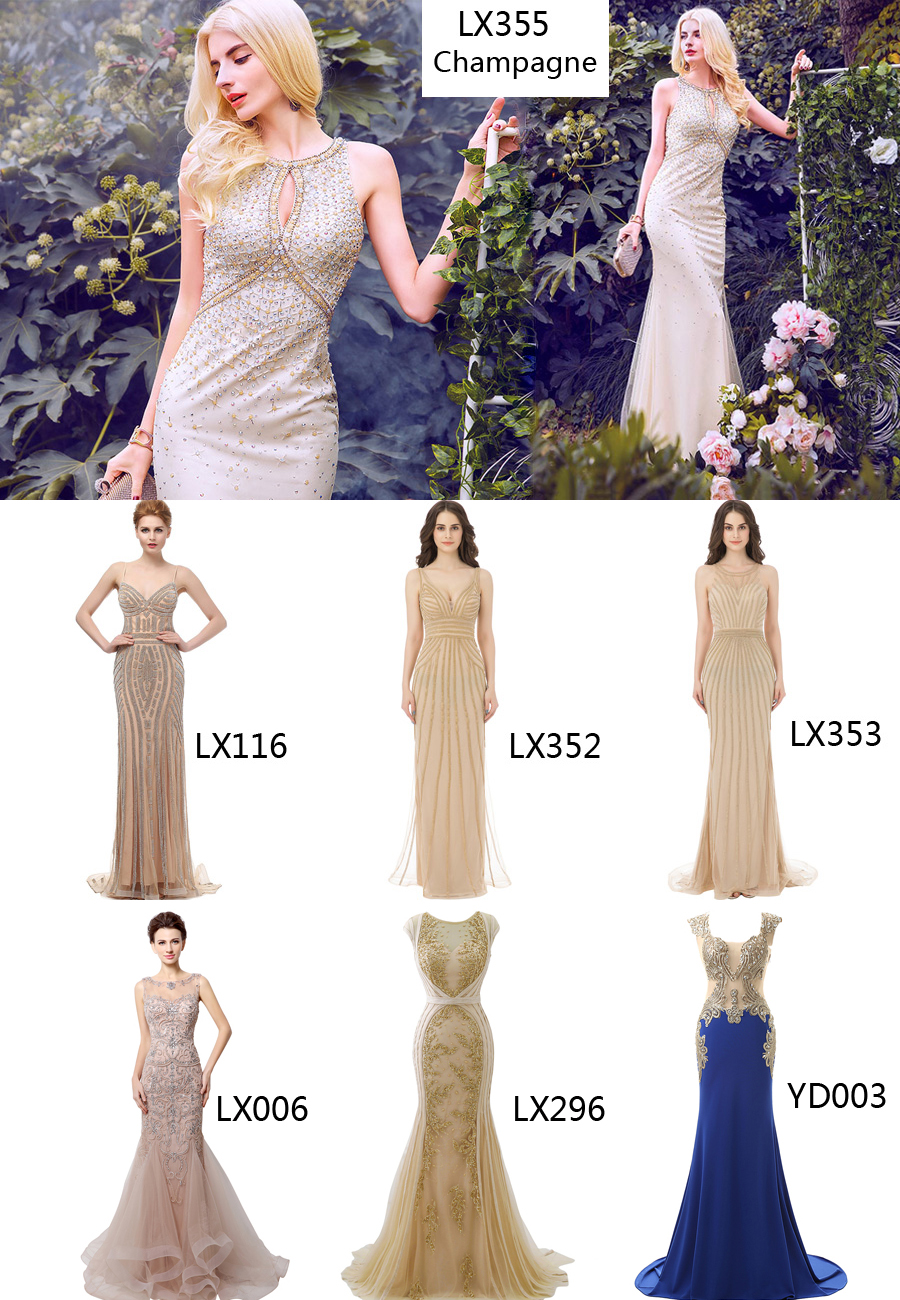 Belle House Women\'s Long Formal Dresses with Beads Luxury Prom Ball ...