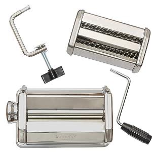pasta maker machine noodle cutter attachment nooodles make roller crank accessories spaghetti steele