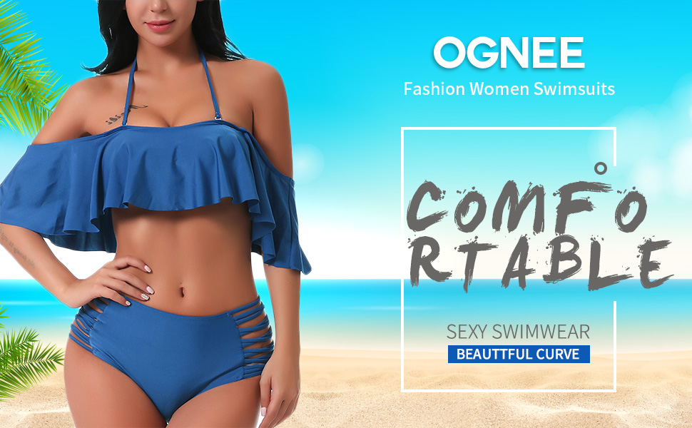 716638a840df6 OGNEE Fashion Women Two Piece Swimsuit- Makes You Look Amazing In This  Summer! Brand  OGNEE Material  Made of 82% Nylon+ 18% Spandex.