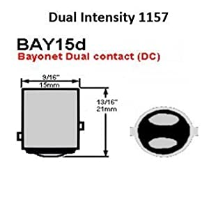 Custom Dynamics GEN-200-R-1157-T RED 1157 Rear Flat-Style LED Inserts 2060-0272