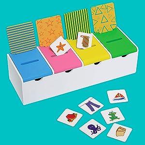Sort in the box sorting categorisation preschool kindergarten game resource