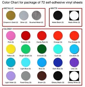 Amazon.com: iImagine Vinyl 72-Sheets of Premium Permanent Self ...