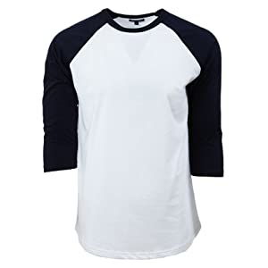 49b95e41aad Casual 3 4 Sleeve Baseball T-Shirt Raglan Jersey Tee Unisex Men ...