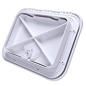 """WHITE Amarine-made For  MARINE BOAT DECK ACCESS HATCH /& LID in 14-3//4/""""X10-5//8/"""""""