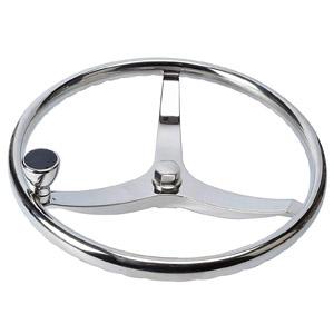 Amarine-made Stainless Steel Boat Steering Wheel 3 Spoke 13-1/2