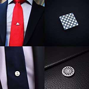 f2eac0bfc1b9 Amazon.com: Tie Mags, The American Flag, Magnetic Tie Clip, Lapel ...