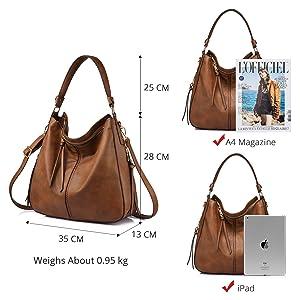 60db9458d66 Amazon.com  Handbags for Women Large Designer Ladies Hobo bag Bucket ...