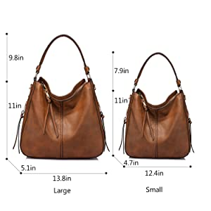 b580b4881eb861 Amazon.com: Handbags for Women Large Designer Ladies Hobo bag Bucket ...