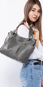 grey purses