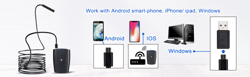 work with Android smart-phone, iphone/ipad, windows